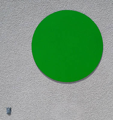 Photograph - The Green Dot by Wayne Wood