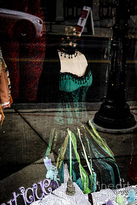 1940s Storefront Photograph - The Green Dress by Marina McLain