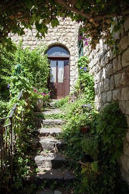 The Green Entrance Art Print by Yoel Koskas