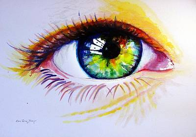 The Green Eye Art Print by Estela Robles
