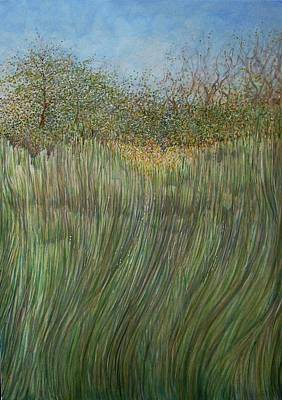 Painting - The Green Field by Arkis Krayl