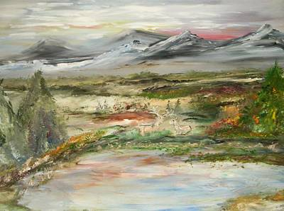 The Green Field Pond Art Print by Edward Wolverton