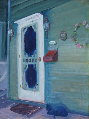 Painting - The Green Gables Door by Judy Fischer Walton