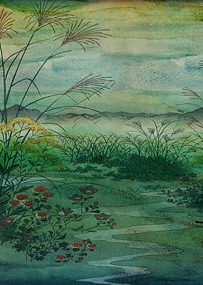 Library Digital Art - The Green, Green Grass Of Home by Sarah Vernon