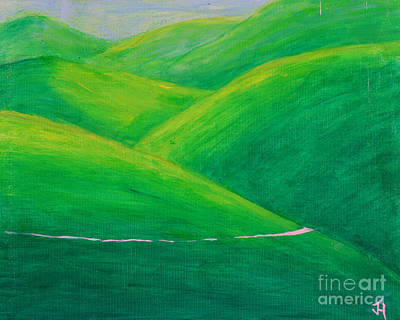 Painting - The Green Green Hills Of Paso Robles by Jack Hedges