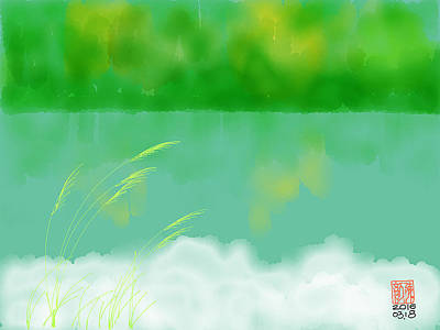 The Green Lake Art Print by Jane Yan Chen--Fine Art Spring