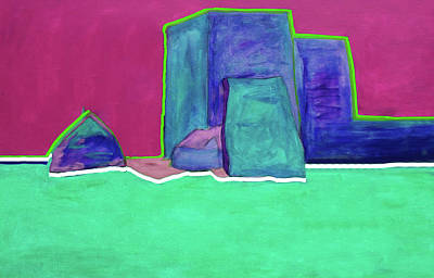 The Green Line By Nixo Art Print