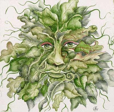 The Green Man Art Print by Angelina Whittaker Cook