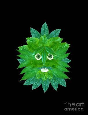 Mixed Media - The Green Man by Rachel Hannah