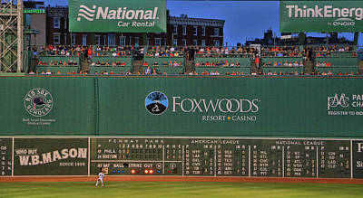 Photograph - The Green Monster - Fenway Park by Allen Beatty