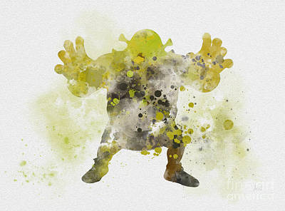 Fantasy Mixed Media - The Green Ogre by Rebecca Jenkins