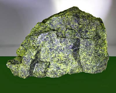 Asbestos Digital Art - The  Green  Rock by Carl Deaville
