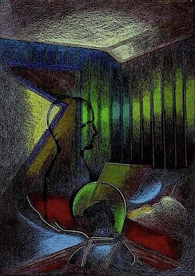 Mixed Media - The Green Room by Al Goldfarb