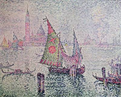 Pointillist Painting - The Green Sail by Paul Signac