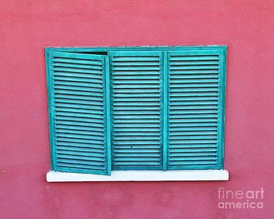 Photograph - The Green Shutter  by Erika H