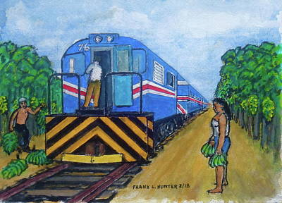 Painting - The Green Train From Limon Costa Rica by Frank Hunter