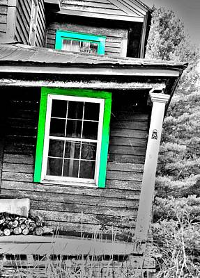 Photograph - The Green Window by Emily Stauring
