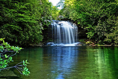 Photograph - The Greens Of Summer At The Falls by Debra and Dave Vanderlaan