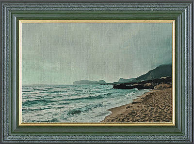 Mixed Media - The Greensea Shoreline by Clive Littin