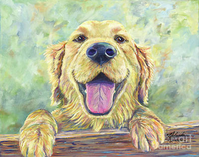 House Pet Painting - The Greeter by Malanda Warner