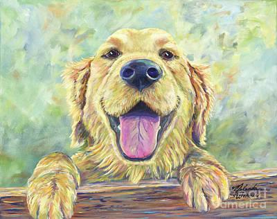 Trustworthy Painting - The Greeter by Malanda Warner