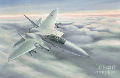 F15 Wall Art - Painting - The Grey Ghost by Michael Swanson