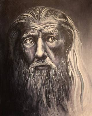 Lotr Painting - The Grey by Laura Scheving
