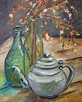 Painting - The Grey Tea Pot by Katt Yanda