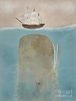 Print featuring the painting The Grey Whale by Bri B