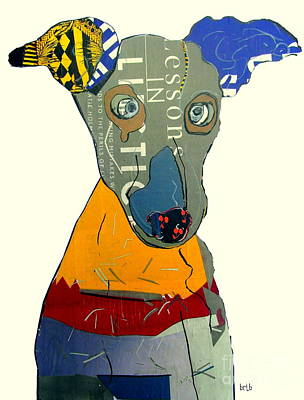 Painting - The Greyhound Dog by Bri B