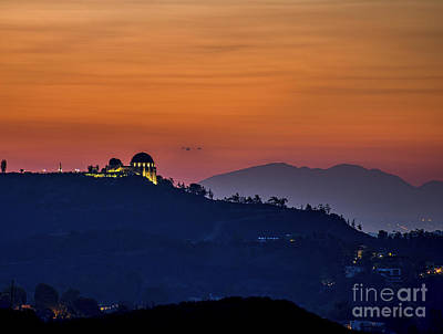 The Griffith Observatory Art Print by Art K