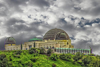 Photograph - The Griffith Observatory by Robert Hebert