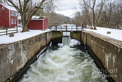 Photograph - The Griggstown Lock by Debra Fedchin