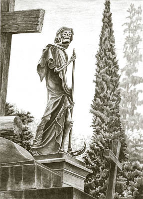 Drawing - The Grim Reaper by Norman Bean