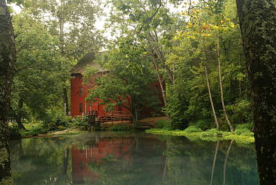 Photograph - The Grist Mill At Alley Springs Take Two by Bj Hodges