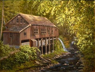 Painting - The Grist Mill by Paul K Hill