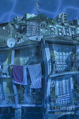 The Groggy Blue House Art Print