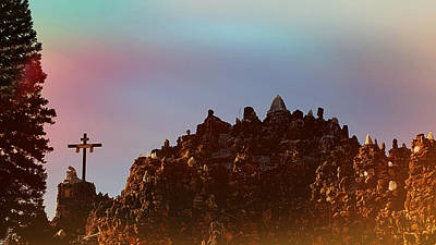 Inri Photograph -  The Grotto Of The Redemption At Sunset by Art Spectrum
