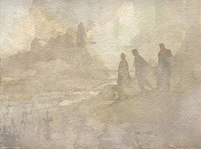 Painting - The Group Comes Out Of The Wilderness by John Holdway