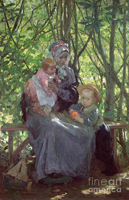 Julius Painting - The Grove by Julius Gari Melchers