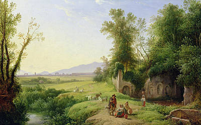Mountain Goat Art Painting - The Grove Of Egeria  by Franz Ludwig Catel