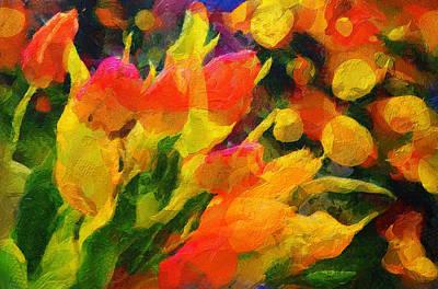 The Growth Of Spring Beauties - Painting Original