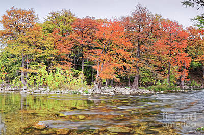 Photograph - The Guadalupe River As It Makes Its Way Through Gruene - New Braunfels - Texas Hill Country II by Silvio Ligutti