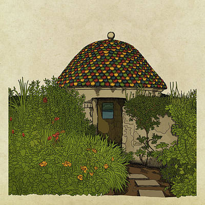 Drawing - The Guard House by Meg Shearer