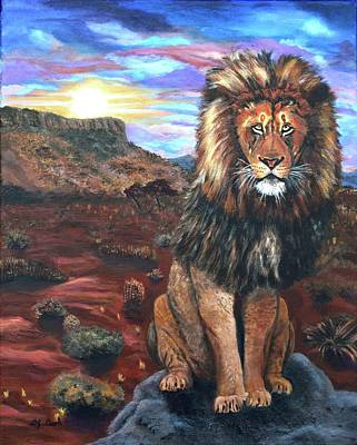 King Of Beasts Painting - The Guardian by Donna Cook