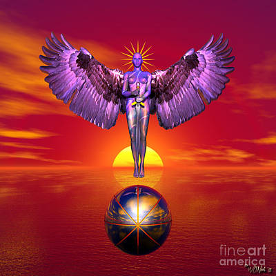 Incision Digital Art - The Guardian Of Freedom by Walter Oliver Neal