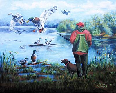 Painting - The Guardian Of The Lake by Vesna Martinjak