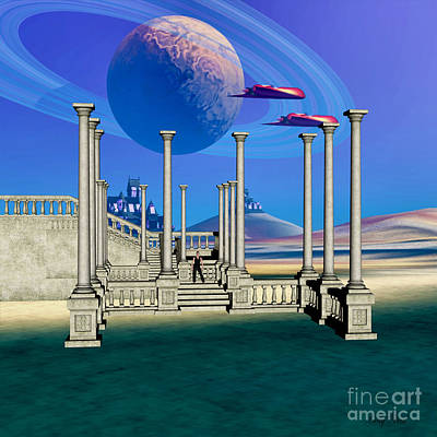 Jet Star Digital Art - The Guardian Planet by Corey Ford