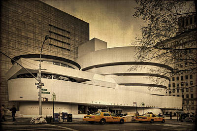 Taxi Cab Photograph - The Guggenheim by Evelina Kremsdorf