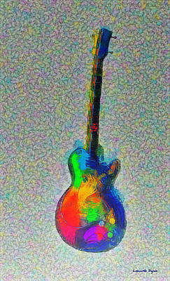Sound Digital Art - The Guitar - Da by Leonardo Digenio